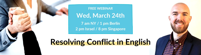 0019 Webinar Resolving Conflict in English