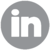 linkedin icon gray
